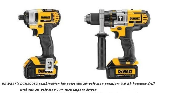 DEWALT DCK290L2 kit contents