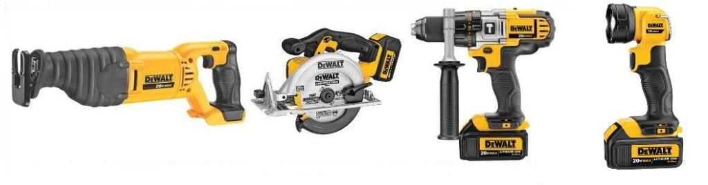 4 tools of the DEWALT DCK491L2 Combo Kit
