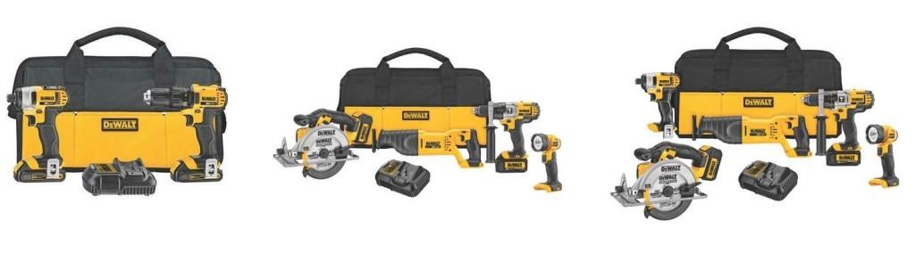 Dewalt 20V Max Combo Tool Kits