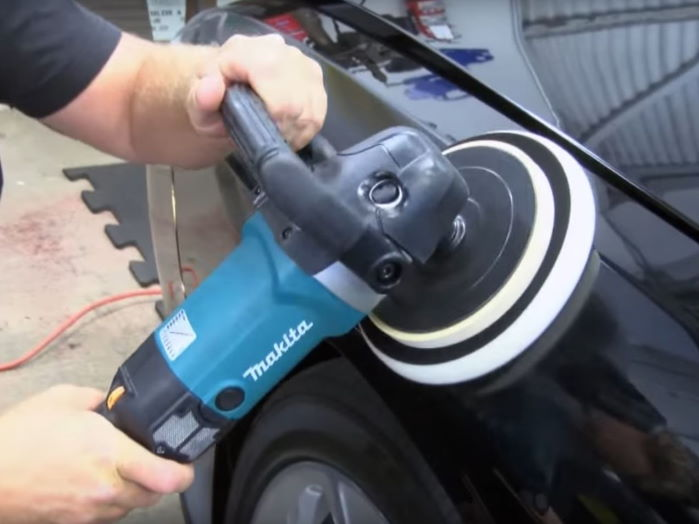 makita polisher 9237cx3 used for polishing black car