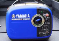 yamaha inverter generator ef2000is sitting on the truck bed